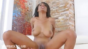 Brittney White is a seductive, ebony babe who likes to ride a rock hard dick